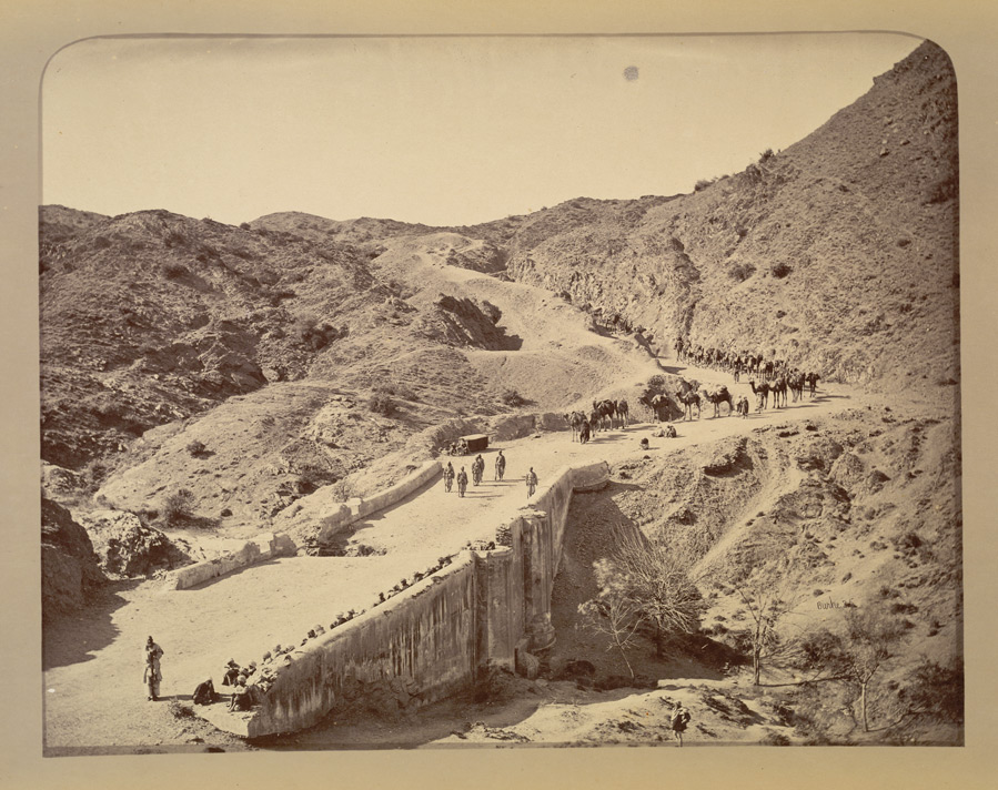 Mackeson's bridge and ascent beyond, looking towards Ali Musjid [Khyber Pass].